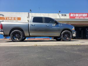 DODGE RAM WHEELS 22X10 AND TIRES 33X12.50R22 M/T $1690 SET OF FOUR BEST PRICE ON TOWN for Sale in Anaheim, CA