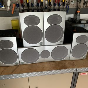 Athena Speaker System! In great shape! 5 speakers plus wire included. for Sale in Mason, OH