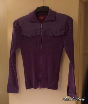 Grand Ole Opry Purple Ribbed Cardigan Size LG for Sale in Kansas City, MO