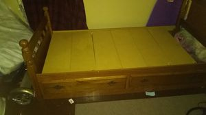 Bed and built in dresser for Sale in Memphis, TN