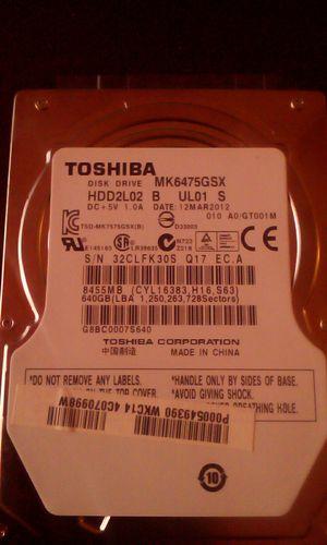 Toshiba 640gb laptop harddrive for Sale in Fresno, CA