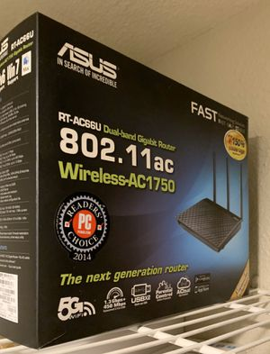 ASUS RT-AC66U B1 AC1750 Dual-Band WiFi Router, AiProtection Lifetime Security by Trend Micro, AiMesh Compatible for Mesh WiFi System for Sale in San Francisco, CA
