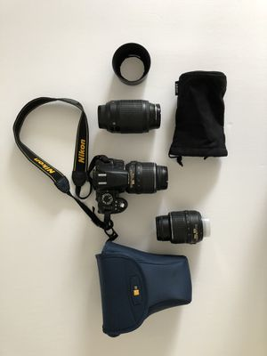 Nikon 3100 digital camera with two lenses for Sale in Ventura, CA