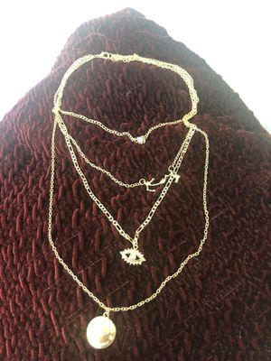 Women's Four-Tier Ultra-Feminine Gold Tone Multiple Pendant Necklace for Sale in Whittier, CA