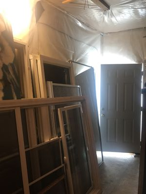 These are used items but in very good condition, doors , windows and kitchen cabinets and sink and faucet . for Sale in Los Angeles, CA