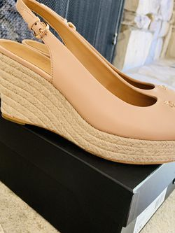 The Perfect Nude: Coach Brand New Wedge Shoes for Sale in Beverly Hills,  CA