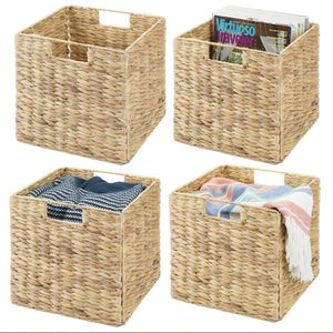 Natural Woven Storage Cube Basket Bins - Hyacinth & Seagrass for Sale in Los Angeles, CA