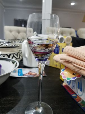 6 decorative antique wine glasses for Sale in Alexandria, VA