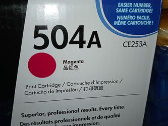 Print Cartridge 504a Magenta Super Cheap for Sale in National City,  CA