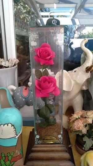 Rose in glass display case for Sale in Pico Rivera, CA
