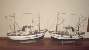 Two wooden boat/ship models in excellent condition. $140 total. for Sale in Mokena, IL