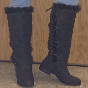 Black Delphine JustFab Boots for Sale in Williamsport, PA