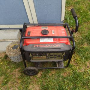 Gas Powered Generator With Wheel Kit and Handle for Sale in Prospect, VA