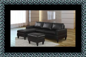 Black sectional with ottoman for Sale in Takoma Park, MD