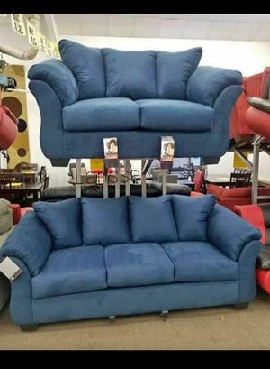 🍻New Ashley Blue Living Room Set / Couches☆Sofa & Loveseat included☆Chair and Ottoman sold separately💥39 DOWN PAYMENT🍻 for Sale in Houston, TX