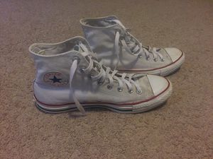 White converse hightops white mens size 9 first 9.5 for Sale in Oakton, VA