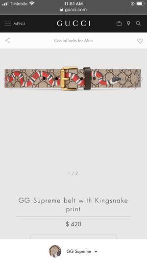 Gucci Belt GG Supreme King Snake 🐍 for Sale in Chandler, AZ