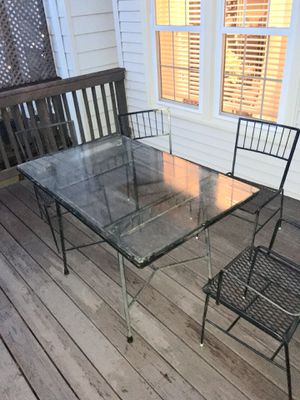 Patio set - Iron, table and 4 chairs for Sale in Centreville, VA