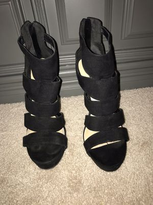 Strappy Black High Heels-10 for Sale in Dallas, TX
