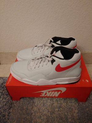Nike Flight Legacy light grey red size 13 for Sale in San Leandro, CA