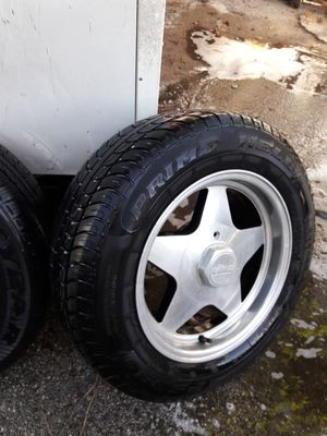 Off chevy s10 universals fit any car new tires new for Sale in Miami, FL