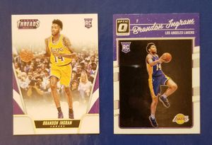 Los Angeles Lakers New Orleans Pelicans Brandon Ingram 2017-18 Optic & Threads rookie cards for Sale in Beaumont, TX