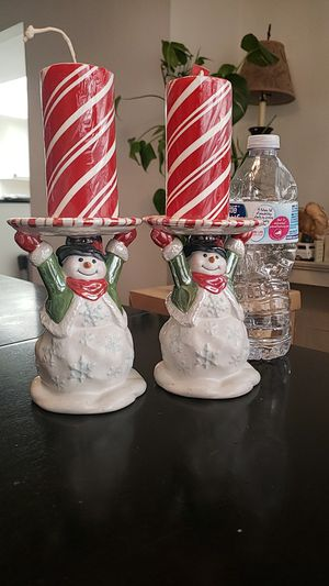 Christmas Candle Holders with candles for Sale in Rancho Cucamonga, CA