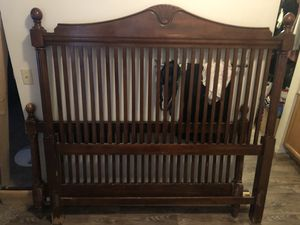 Queen Bed Frame - Used Normal Wear for Sale in Chandler, AZ