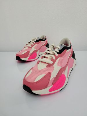 Puma Womens RS-X3 Puzzle Sneakers - 373797-06. Pink - Size 7 for Sale in San Jose, CA