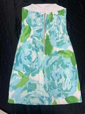 Lily Pulitzer 00 Blue Floral Strapless Dress for Sale in Seneca, SC