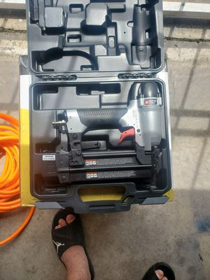 Nail gun with air hose 25ft for Sale in Houston, TX