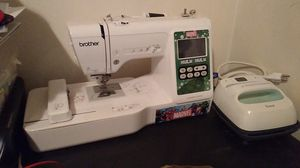 Brother Embroidery machine and cricut easy press 6x6 for Sale in Decatur, GA