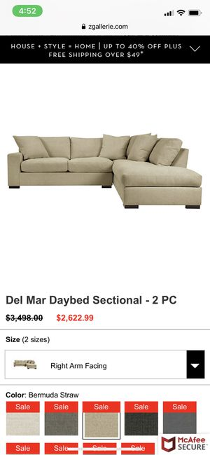 Zgallery Sectional Sofa New Condition for Sale in Los Angeles, CA