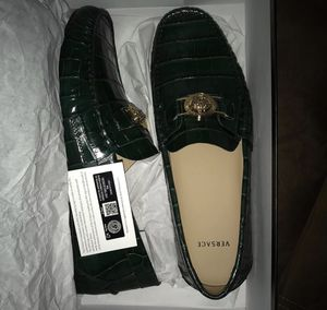 Emerald green Versace loafers size 11 for Sale in Antioch, CA