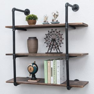 Industrial Pipe Shelves with Wood 3-Tiers for Sale in Rancho Cucamonga, CA