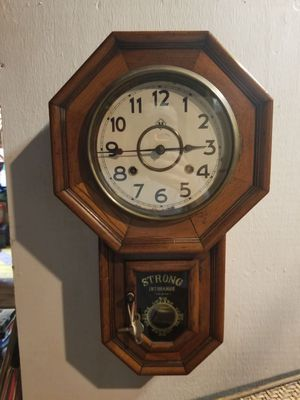Antique clock strong insurance company for Sale in Raleigh, NC
