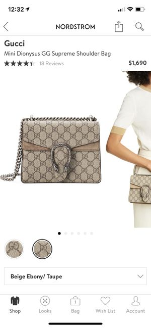 Gucci mini Dionysus gg supreme shoulder bag for Sale in Sterling Heights, MI