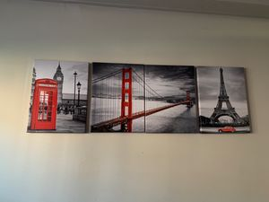 Paris Canvas 25$ Each Or 75$ For All ... for Sale in Harrisburg, PA
