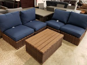 New 5pc outdoor patio furniture set tax included delivery available for Sale in Hayward, CA