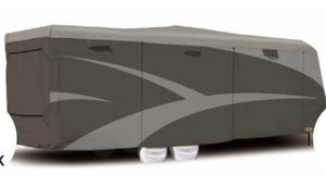 (New ) Adco SFS AquaShed RV Cover for Toy Hauler Travel Trailer - Up to 33-1/2' Long - Gray for Sale in Kingsburg, CA