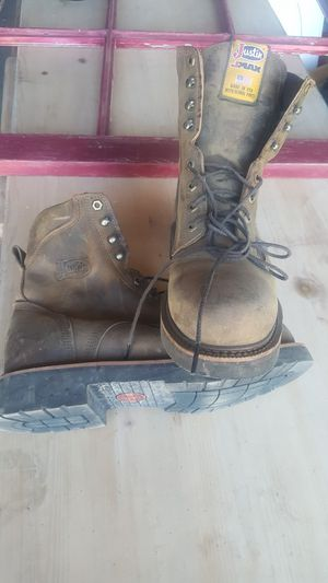 Justin safety toe work boots for Sale in Brush Prairie, WA