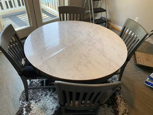 Repurposed round wooden table and chairs for Sale in Lynnwood, WA