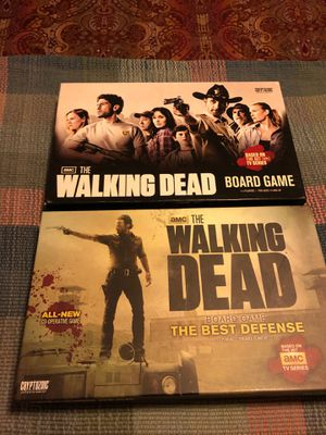 2 walking dead board games like new for Sale in McKinney, TX