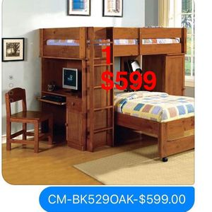 Furniture. Bunk bed. Trundles are $100 Mattresses are extra. Assembly required. Free delivery. for Sale in Montebello, CA