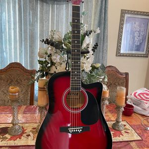 red fever acoustic guitar with metal strings for Sale in South Gate, CA