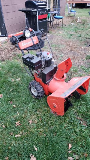 Simplicity snow blower for Sale in Milford, MA