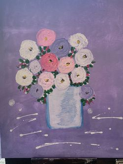 Floral Arrangement Acrylic Painting for Sale in Yorba Linda,  CA