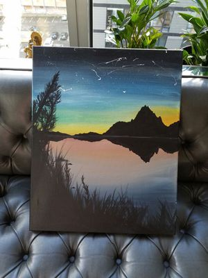 Wall art painting lake, nature, mountain for Sale in Seattle, WA