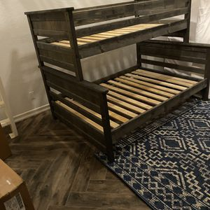 Twin Size Over Full Size Bunk Bed for Sale in San Diego, CA