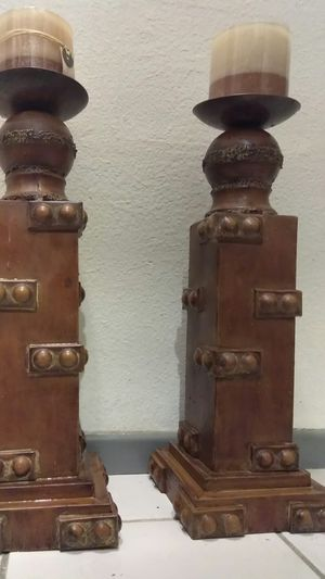 "METAL CANDLE HOLDERS 20""H for Sale in Riverside, CA"